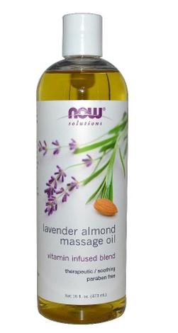 Now Foods Lavender almond massaging 473 milliliters of essential oil to relax the body and mind now foods л тианин капсулы 90шт
