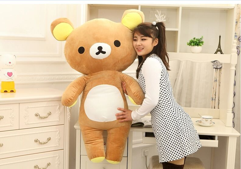 big lovely brown plush happy bear toy creative easily bear doll bear toy gift about 110cm 0149 new creative plush bear toy cute lying bow teddy bear doll gift about 50cm