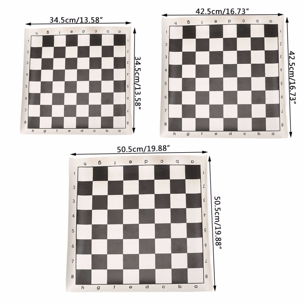 Carrying Chess /& Roll Up Chessboard Mat Set for Outdoor Camping Toys Gift S