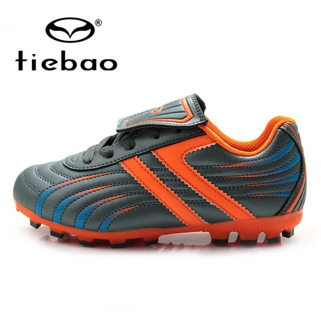 TIEBAO Professional Outdoor Football Boots Children Kids Teenagers H & A Sole Soccer Cleats Training Soccer Shoes botas futbol