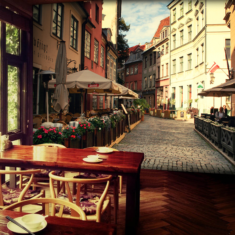 Custom photo wallpaper 3d wallpaper bakers street for Cafe mural wallpaper