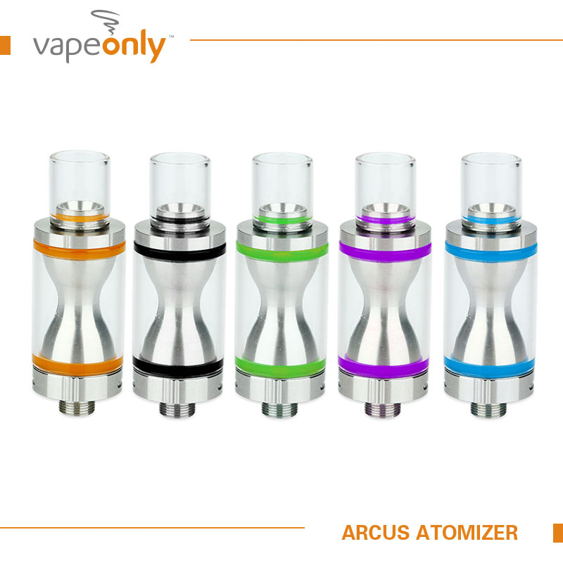 VapeOnly Arcus 2ml Tank Atomizer with 1 5ohm 1ohm coil Replaceable Sealing O rings for 510
