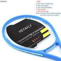 Amateur intermediate Tennis racket complex carbon net tennis racket training level tennis racket racquet Bag shock absorbers