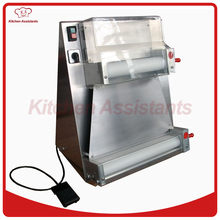 DR1V-FP electric stand stainless steel pizza dough roller machine pizza making machines dough sheeter with foot padel