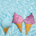 New 90cm long Ice cream shape balloons Inflatable swimming toys party fun props
