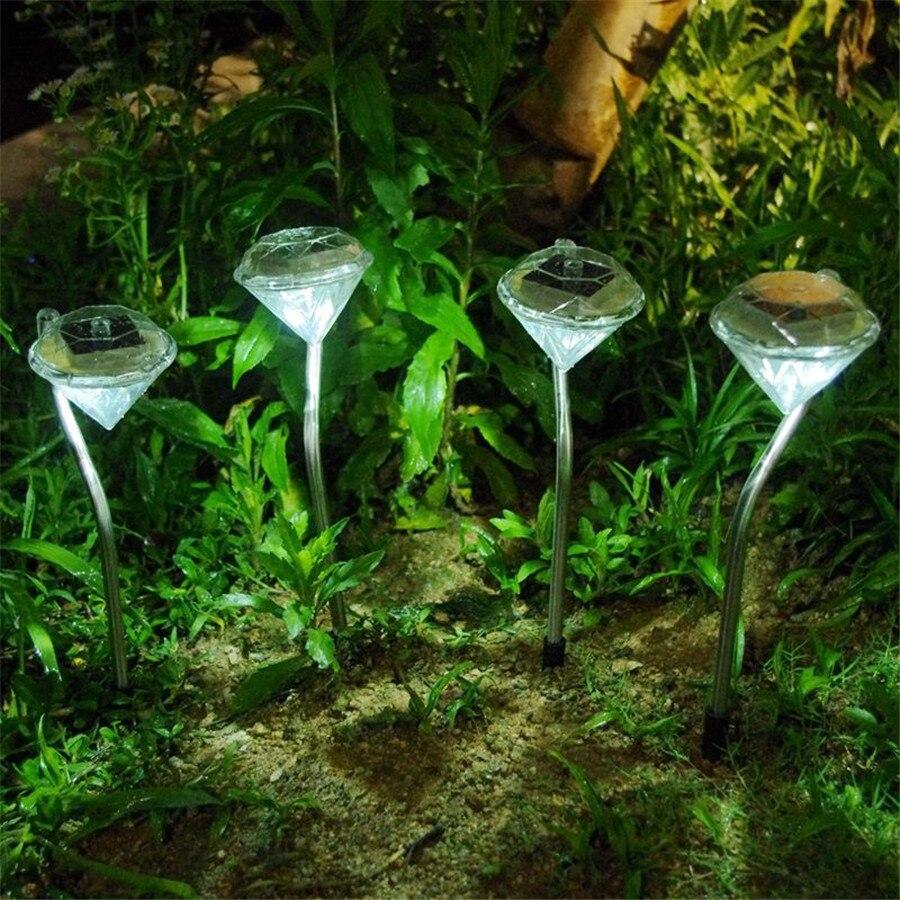 Thrisdar 8 шт. Сменные diamond Солнечный сад доля свет газон нержавеющая путь патио Пейзаж солнечный Спайк прожектор