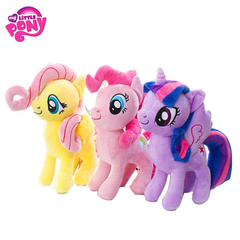 22-40 cm meu brinquedo pequeno pônei recheado boneca de pelúcia pinkie torta arco-íris traço filme & tv unicórnio brinquedo amizade é presente mágico para a menina
