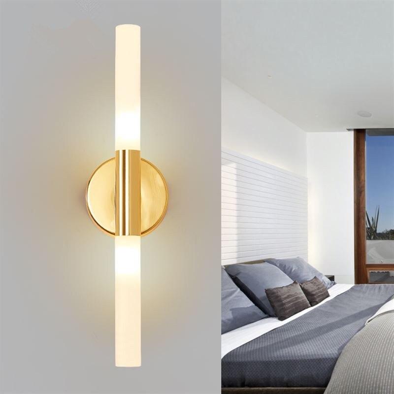 Luzes 2 G9 Led arandela salão luzes de imagem Quarto camarim Espelho ligting interior Do Corredor luminárias de Parede moderno ouro