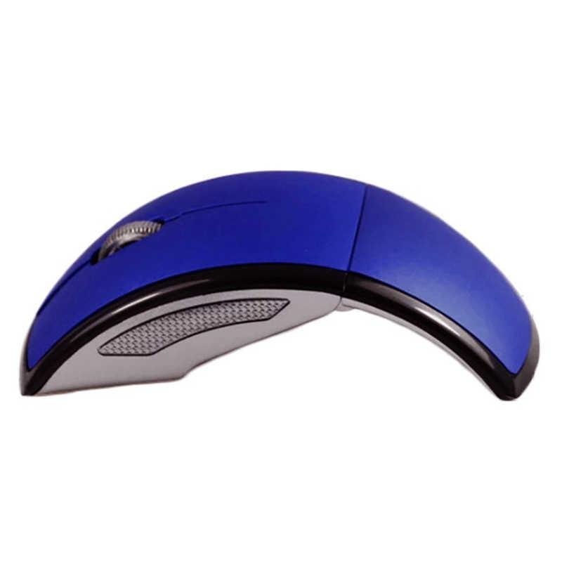 超薄型 2.4 2.4ghz の折りたたみワイヤレスアーク光学式マウスマウスパッド Pc のラップトップノートブックコンピュータ用のミニ Usb レシーバー JR セール