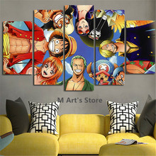 5Piece Wall Posters Printed One Piece Canvas Painting Home Decor Quadros Picture For Living Room Wall Art Anime Poster