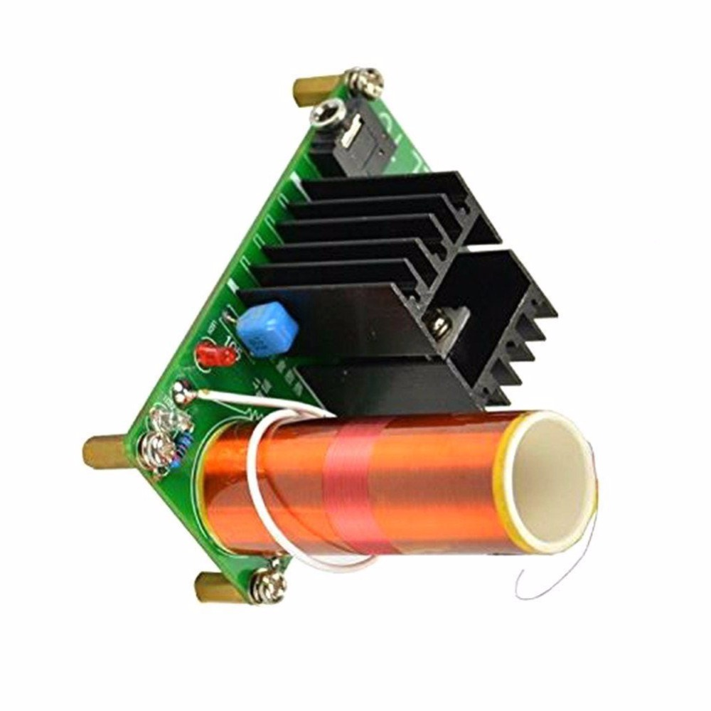 15W Mini Tesla Coil Plasma Speaker Kit Music Wireless Transmission Board Module DC 15-24V For DIY mini music tesla coil plasma speaker science experiment electronic small production