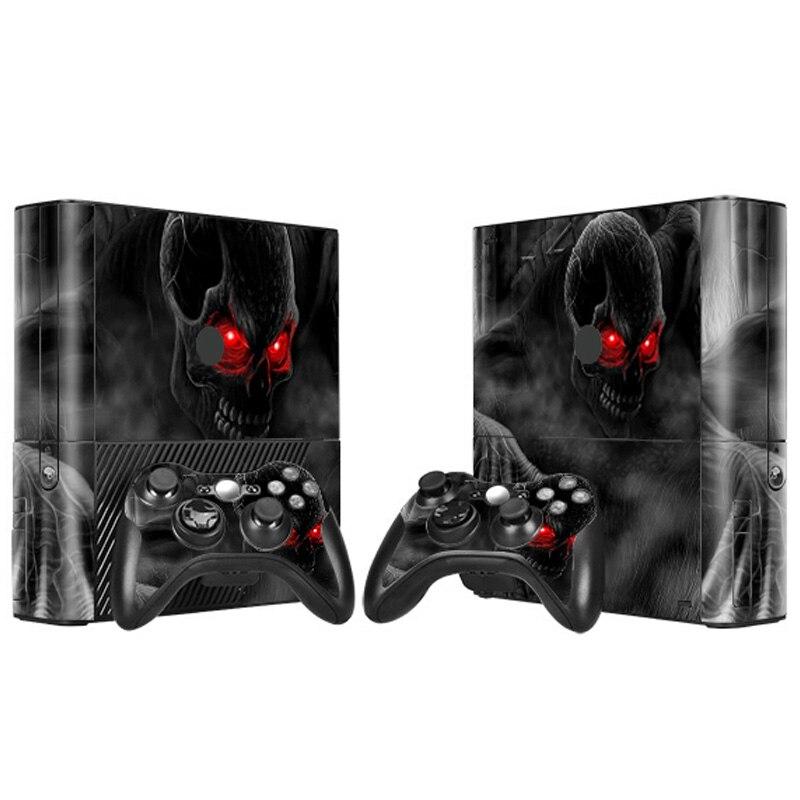 Популярный черный череп с красными глазами Наклейку Кожи для Microsoft Xbox 360 Е и 2 контроллера скины Наклейки # TN-XB360E-0041