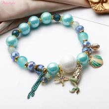 PATIMATE Little Mermaid Beads Bracelets Decors Birthday Party Decorations Wedding for Weddings Girl Favors Supplies