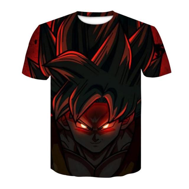 2018 Dragon Ball Super Saiyan T-Shirt Anime DragonBall Z 3D Vegeta Comics T Shirt Men Goku Costume Tees Cartoon Clothes 3