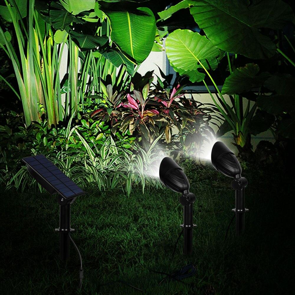 no gramado patio e parede luzes solares 05