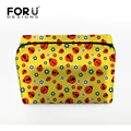 FORUDESIGNS Women Purse Handbag Cute Make up Bags Popular Makeup Brush Toiletry Handbag Protable Cometic Bags