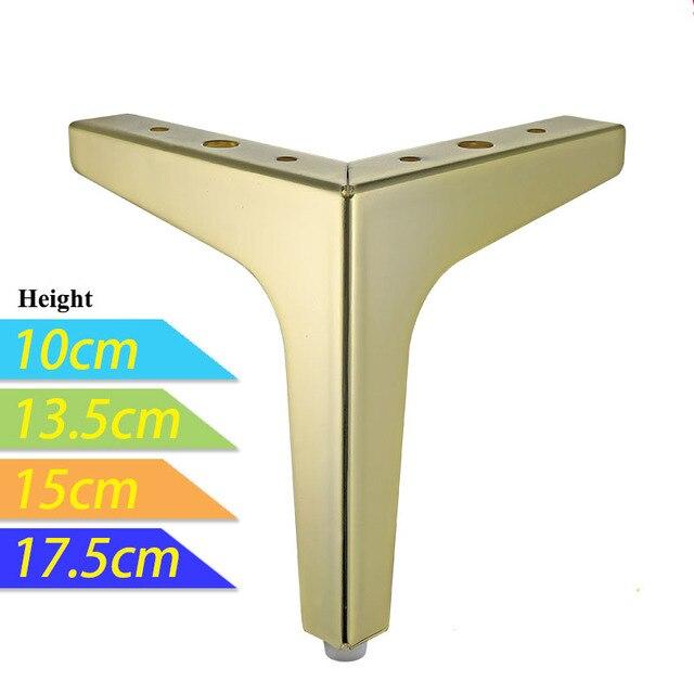 2 ชิ้น/ล็อต Gold ขาทีวีตู้ผู้ถือขาโซฟาเฟอร์นิเจอร์ฮาร์ดแวร์ห้องครัวตู้อุปกรณ์เสริมขา