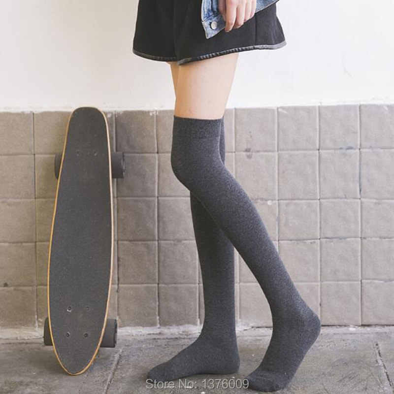 964f58627 JK Uniform Over Knee High Tight Socks Lolita Maid Anime Cosplay School  Girls Stocking 2018 Costume