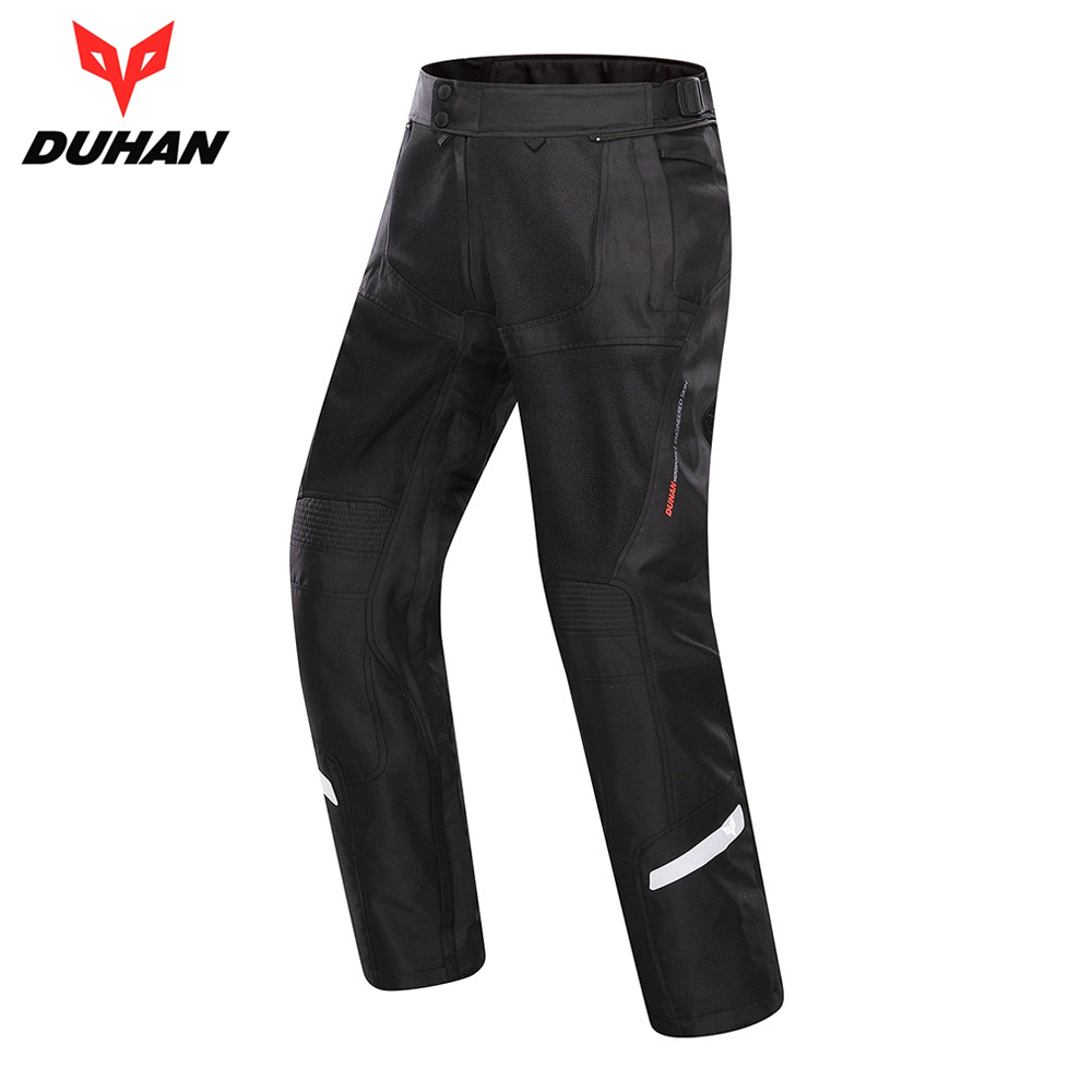 DUHAN Spring Summer Men Motorcycle Pants Moto Trousers Breathable Motorbike Motocross Pants Motorcycle Clothing Protective Gear