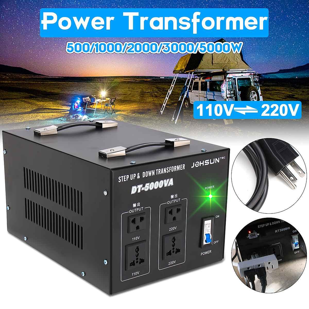 500 1000 2000 3000 5000 w transformador de potencia resistente do conversor do regulador de tensao