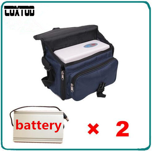 COXTOD 2 Batteries Oxygen Concentrator For Daily Care Mini Car Oxygen Bar Portable Oxygen Inhaler Oxygenerator medical oxygen concentrator for respiratory diseases 110v 220v oxygen generator copd oxygen supplying machine