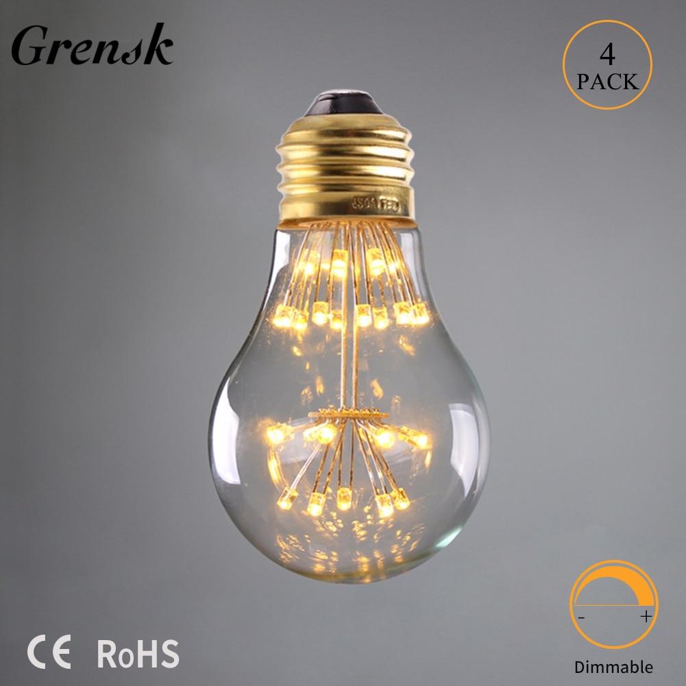 Edison Vintage 110v E26 E27 A19 A60 40w 60w Equivalent: Aliexpress.com : Buy Grensk 3W E27 220V LED Firework Bulbs
