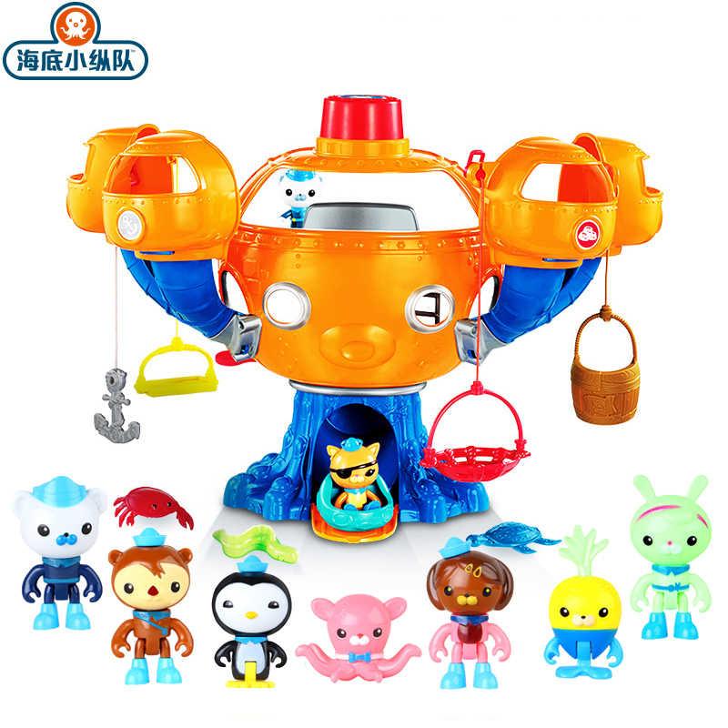 Octonauts Oceano Aventura de Ação Figuras de Brinquedo Polvo Castelo Barco Tubarão Cenas Cracas Kwazii Peso Dos Desenhos Animados Modelo de Brinquedo de Presente
