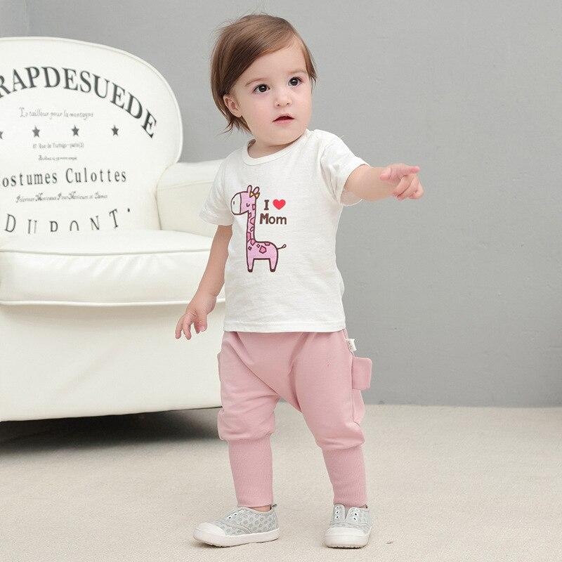 Gut Ausgebildete Baby Mädchen Kleidung Kleinkind Jungen Und Mädchen Kurzarm T Shirt Baby Baby Cartoon Druck Baumwolle Top Tshirt Kid Kleidung Tropf-Trocken