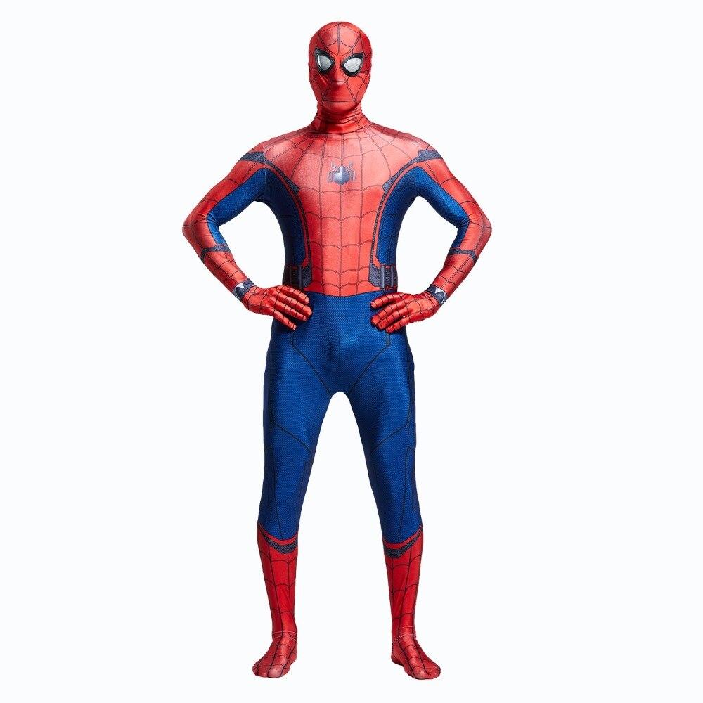 2017 Человек-паук Косплэй Костюм Питер Бенджамин Паркер Человек-паук выпускников Косплэй наряд на Хэллоуин супергерой Человек-паук костюм