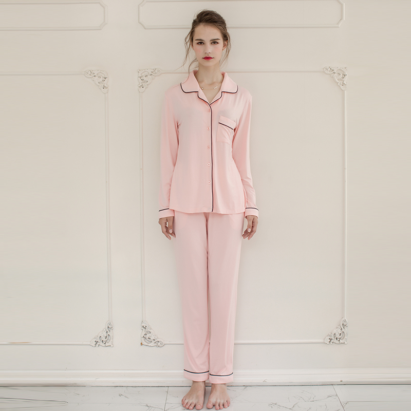 Women and Men Lovers Bamboo Cellulose Fiber Modal Cotton Jersey Sleepwear  Home Wear Loungewear pajama Sets with Long Pants -in Pajama Sets from  Underwear ... f16f2eaf3