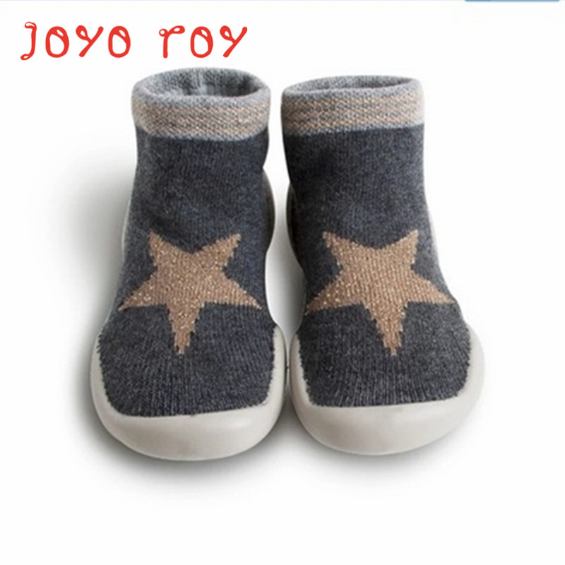 Joyo Roy Children's Non-slip Floor Shoes 0-2 Boys Girls Baby Toddler Anti-skid Shoes Infant Rubber Sole Floor Sock Shoes Dj0119R