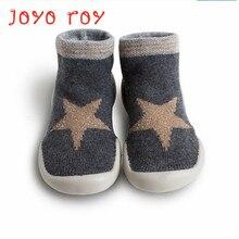 Joyo roy Childrens non-slip floor shoes 0-2 boys girls baby toddler anti-skid infant rubber sole sock dj0119R