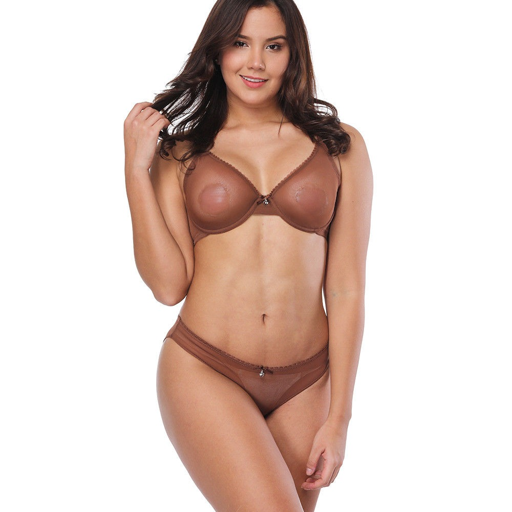06de0d847c Ultra Thin Mesh Bra B C D E F 75 80 85 90 95 Panty M L XL XXL XXXL Sales.  US  3.69. (90). 129 orders. From Other Sellers. Sexy Bra Lace Push Up  Bralette ...
