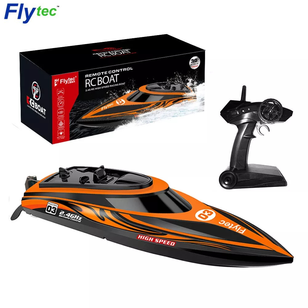 Flytec V003 RC Racing Boats 30km H High Speed Shipboat 2 4G Built In Water Cooling