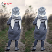 Cute Rabbit Ear Hooded Baby Coat Infant Autumn Winter Jacket Girl Thick Warm Clothes baby wearing jacket Coats Outwear fashion