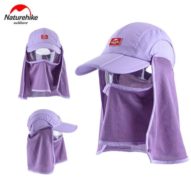 Naturehike Outdoor Unisex Men Women Anti-UV Sun Hat with Face Mask Camping Hiking Fishing Cap with Sun Mask NH12M002-Z 3