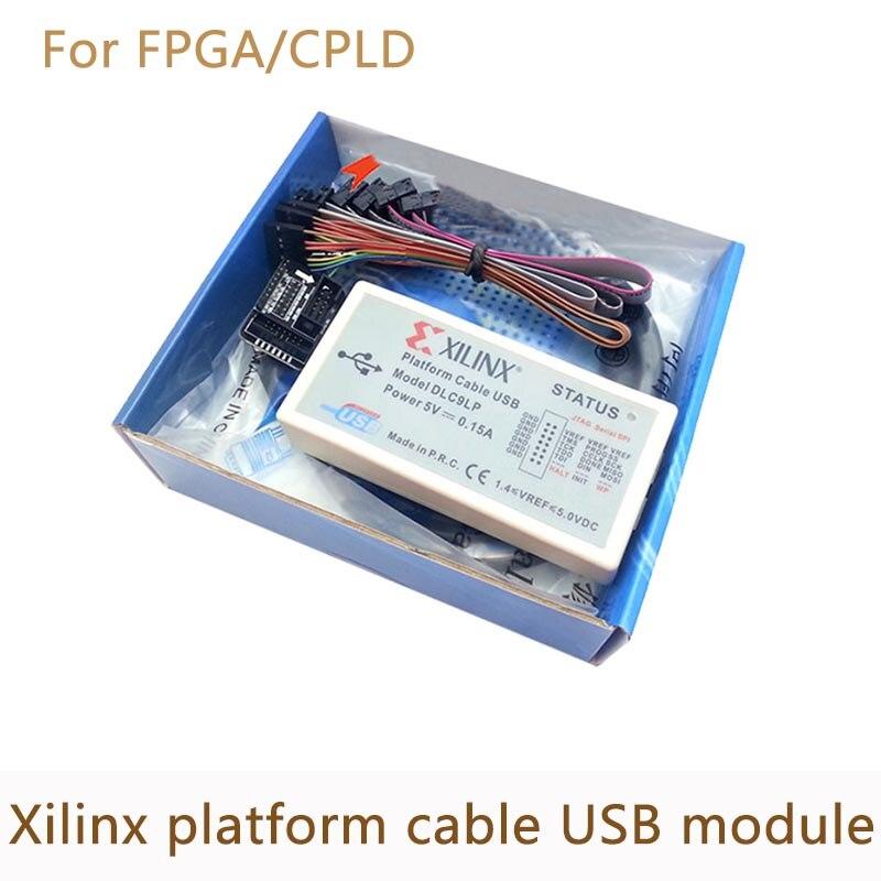 Xilinx plataforma cable Cable de descarga USB JTAG programador FPGA CPLD apoyo XP/WIN7/WIN8/Linux XC2C256 chip