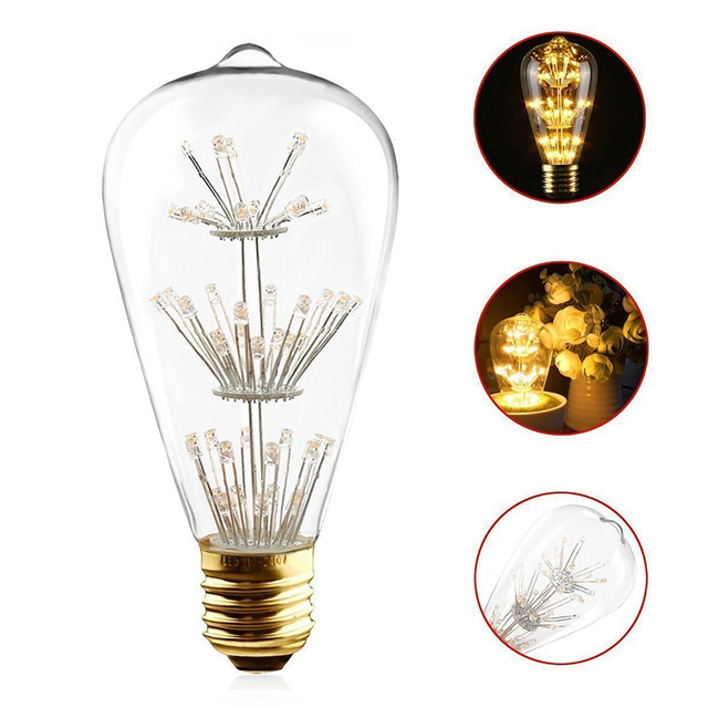 Kitchen Bulbs Cabinet Inserts Ideas 4pcs 3w Led Vintage 1950 Edison St64 Bulb Wedding Dress Women E27 Screw Lamp