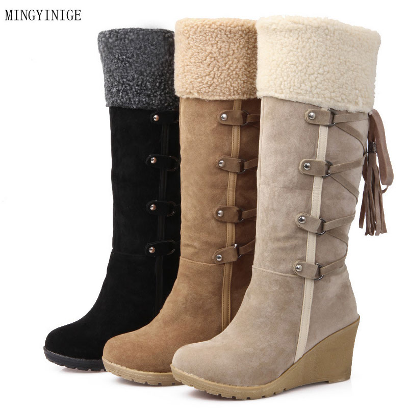 Women Suede Knight Boot Woman Buckle Square Low Heel Shoes Heeled Footwear Knee High Boots Women Suede Knight Boot Woman Buckle Square Low Heel Shoes Heeled Footwear Knee High Boots