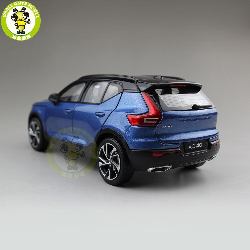 1/18 nuevo Volvo XC40 SUV fundido Metal coche SUV modelo niño niña regalo Hobby colección Color azul-in Troquelado y vehículos de juguete from Juguetes y pasatiempos    2