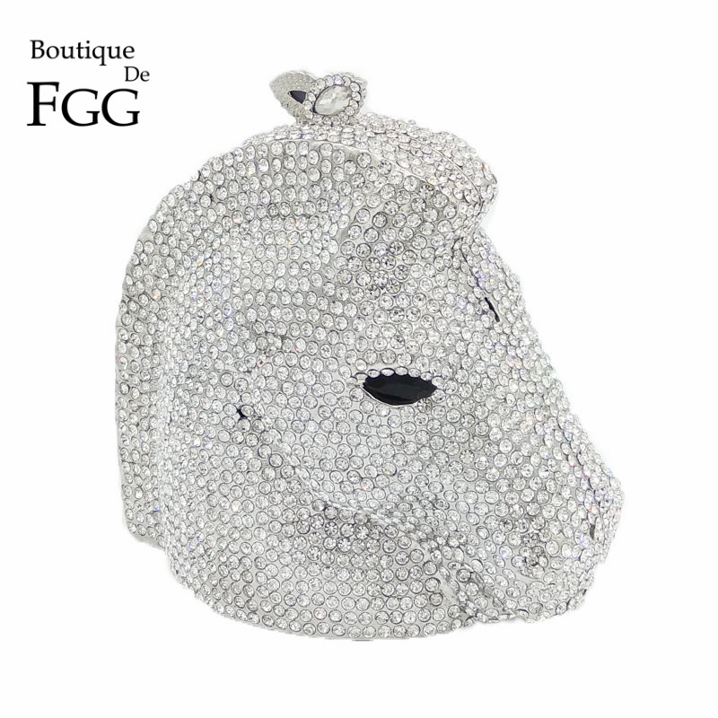 Lujo Claro Diamante Cristalino de Plata Del Caballo de Las Mujeres Mini Animal B