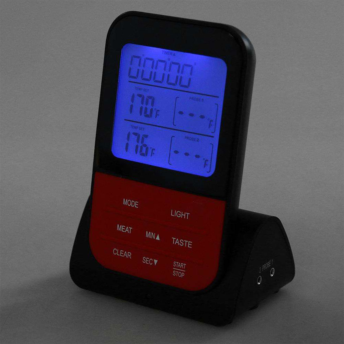 Wireless Waterproof BBQ Thermometer Digital Cooking Meat Food Oven Grilling Thermometer With Timer Function 20 250C