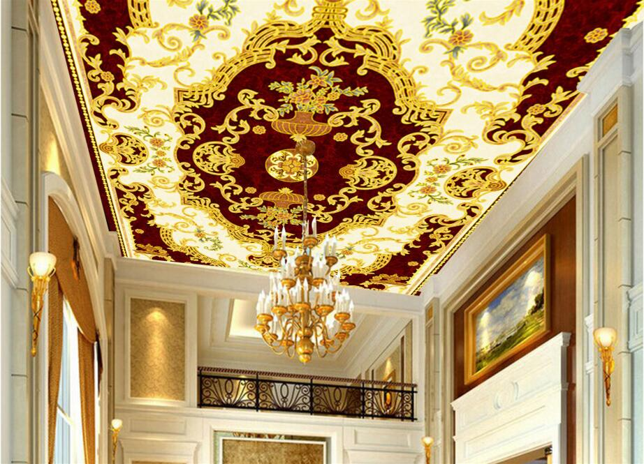 Custom photo 3d ceiling murals wall paper European spelling a flower room decor painting 3d wall murals wallpaper for walls 3 d custom photo 3d wall murals wallpaper mountain waterfalls water decor painting picture wallpapers for walls 3 d living room