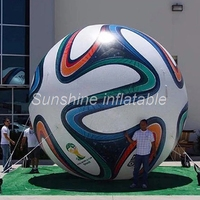 Customized 3.5m large inflatable world cup football soccer balloon for game display