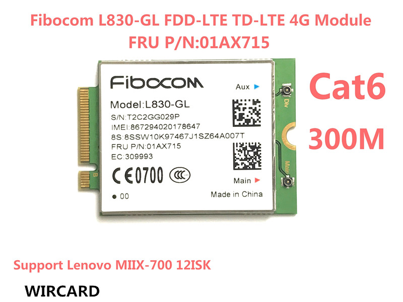 Fibocom L830-GL FDD-LTE TDD-LTE 4G Module 4G Card FRU 01AX715 sierra airprime em7340 4g lte card thinkpad fru 04x6095 module 4g lte hspa