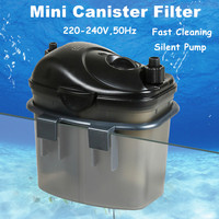 3w 200L/H Silent Aquarium External Filter Fish Tank Filter Canister With Filter Media Suit For Aquarium Tank 50cm