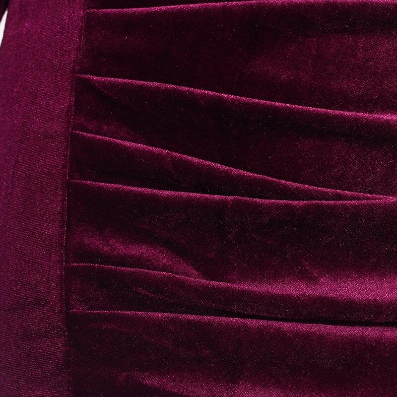 001b7c1f7e4d Donne Office Lady Abiti Autunno 2017 Nuovo Arrivo Elegante Polso Manica  Vestito Aderente Donne Vestito di Velluto Nero Verde Rosso Verde in Donne  Office ...