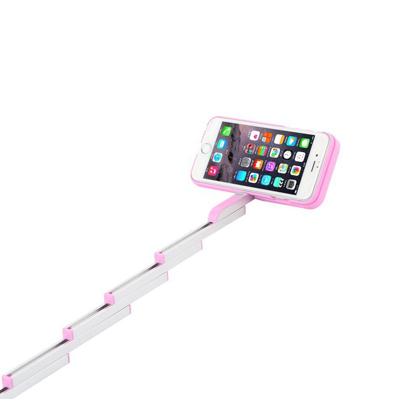 Protable Fold Phone case iPhone6s/Plus Case Bluetooth Stikbox Selfie Stick Stand Cover Remote Control self stick