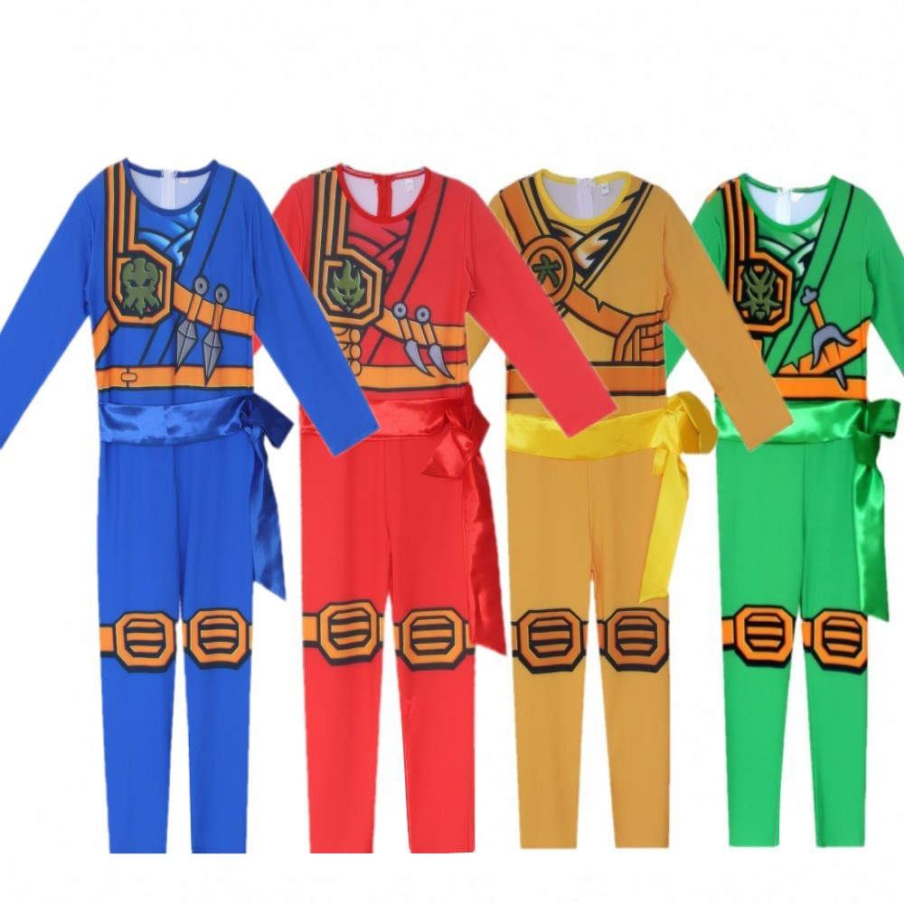LEGO NINJAGO Advanced Latest Role Playing Costume Boys and Girls Jumpsuit Set Halloween Christmas Party Ninja Superhero 1