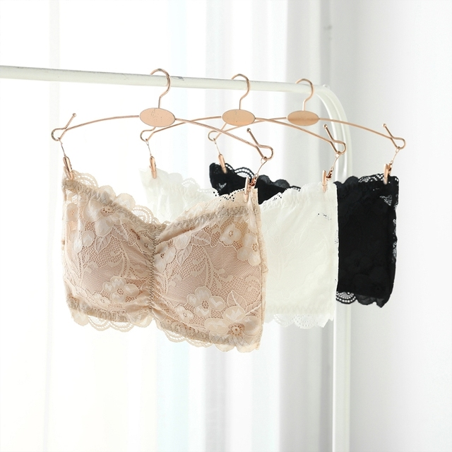 5c5cee25ce7d0 Women Sexy Underwear Strapless Lace Push Up Bra Padded Seamless Bandeau Tube  Bra Tops Hook Closure New Lady